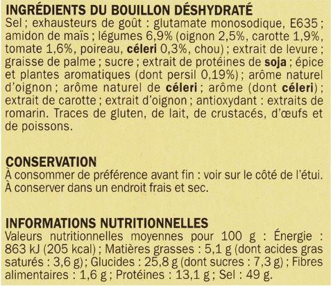 ingrédients bouillon repère